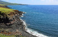 South coast of maui landscape on pacific ocean hawaii Stock Images