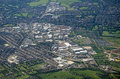 South croydon aerial view of the purley way trunk road and large shops and light industrial area in london Royalty Free Stock Photos