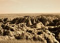 South dakota badlands dry arid region in usa known as the Stock Photo