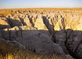 South dakota badlands the dry desolate arid region of usa known as the Stock Photo