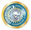 South Dakota Flag Button