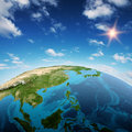 South east asia and oceania elements of this image furnished by nasa Royalty Free Stock Image