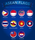 South East Asian Association Country Flags