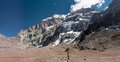 South face of aconcagua a trekking trip to the plaza francia Royalty Free Stock Photos