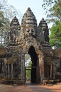 South Gate of Angkor Thom Stock Photo