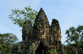 South Gate of Angkor Thom Stock Photos