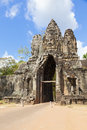 South Gate to Angkor Thom Stock Image