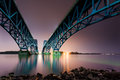 South grand island bridge the spans niagara river in upstate new york Stock Photo