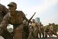 South korea war memorial seoul view of part of the korean Royalty Free Stock Image