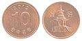 10 south korean won coin Royalty Free Stock Photo