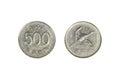 South Korean Won Coins Royalty Free Stock Photo