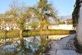 South Lake in Hong village Royalty Free Stock Photo