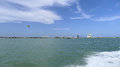South Padre Island and parasail Stock Photography