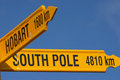 South pole (4810Km) Royalty Free Stock Images