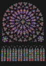 South Rose Window Notre Dame Paris Royalty Free Stock Photo