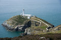 South stack lighthouse in wales Stock Photography