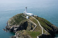 South stack lighthouse in wales Royalty Free Stock Photo