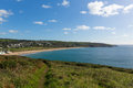 South West Coast Path Praa Sands Cornwall England UK Royalty Free Stock Photo