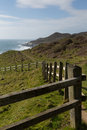 South west coast path woolacombe devon view england towards morte point Royalty Free Stock Image