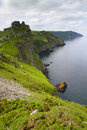 The South-West coastal path near Lynton Stock Photography