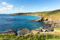 South West England coast in county of Cornwall Royalty Free Stock Photo