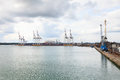 Southampton dockland the in england Stock Image