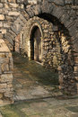 Southampton old city walls archway an leading through the historic of hampshire england Royalty Free Stock Image