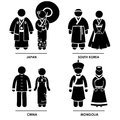 Southeast Asia Clothing Costume Royalty Free Stock Photo