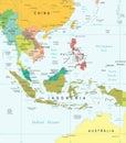 Southeast Asia - Map - Illustr...