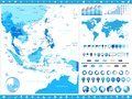 stock image of  Southeast Asia Map and infographic elements
