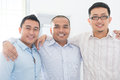Southeast asian business team in office Royalty Free Stock Images