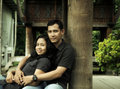 Southeast asian couple outdoor Stock Photography