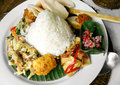 Southeast asian street food platter Stock Images