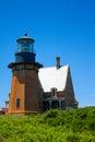 Southeast lighthouse block island rhode island Stock Images