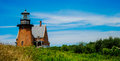 Southeast lighthouse block island rhode island Royalty Free Stock Photo