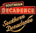 Southern Decadence New Orleans Marquee Word Art Royalty Free Stock Photo