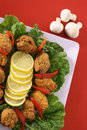 Southern fried appetizer platter vertical Stock Photography