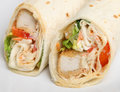 Southern fried chicken wrap sandwich selective focus on rh Royalty Free Stock Photo