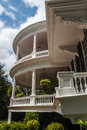 Southern home two story round veranda Royalty Free Stock Images