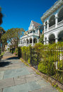 Southern homes historic style in charleston south carolina Stock Photos