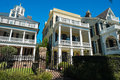 Southern homes historic style in charleston south carolina Royalty Free Stock Image