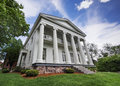 Southern mansion greek classical antebellum located in the deep south of america Stock Photo