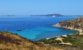 Southern sardinia italy sunny day in costa rei in Royalty Free Stock Photo