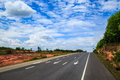 Southern seaboard road south of thailand Royalty Free Stock Photos
