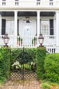 Southern states style mansion traditional made of white wood Stock Photography
