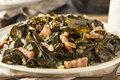 Southern style collard greens with salt pork Royalty Free Stock Photography