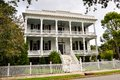Southern style mansion a of white wood Royalty Free Stock Photos