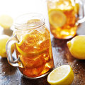 Southern sweet tea in a rustic jar Royalty Free Stock Photo