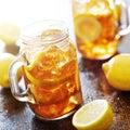 Southern sweet tea in a rustic jar