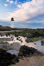 Southerness lighthouse sunset at point dumfries and galloway the second oldest in scotland Royalty Free Stock Photos